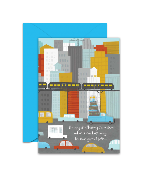 Greeting Card - GC2916-HAL075 - Happy Birthday to a son who's on his way to one great life...