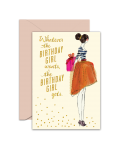 Greeting Card - GC2916-HAL079 - Whatever the Birthday Girl wants the Birthday Girl gets