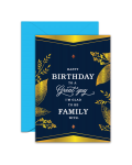 Greeting Card - GC2916-HAL083 - Happy Birthday To A Great Guy I'm Gald TO BE Family With.