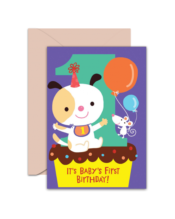 Greeting Card - GC2916-HAL084 - It's Baby First Birthday!