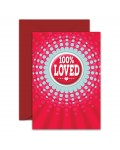 Greeting Card - GC2916-HAP006 - 100% LOVED - Pin Back Button