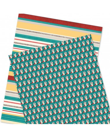 Wrapping Paper - WP4964-HAL020 - Colorful Stripes/ Otter