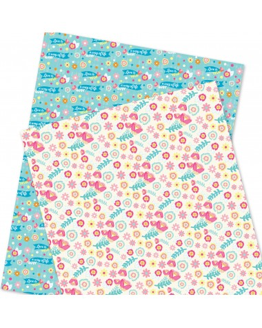 Wrapping Paper - WP4964-HAL021 - Pink Flowers / Way of Life