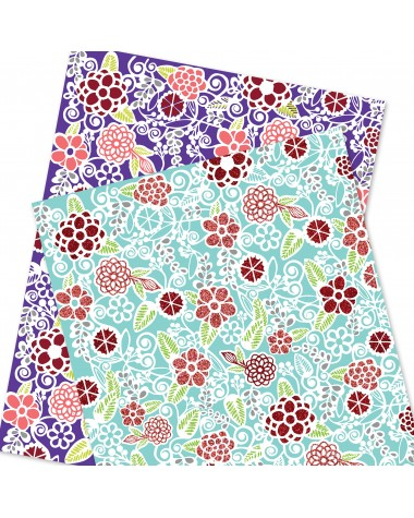 Wrapping Paper - WP4964-HAL025 - Flowers Pattern