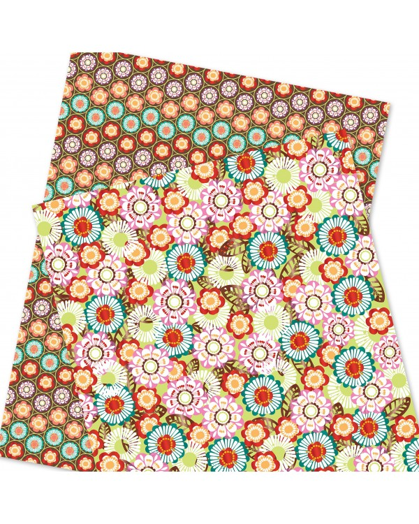 Wrapping Paper - WP4964-HAL026 - Flowers Pattern