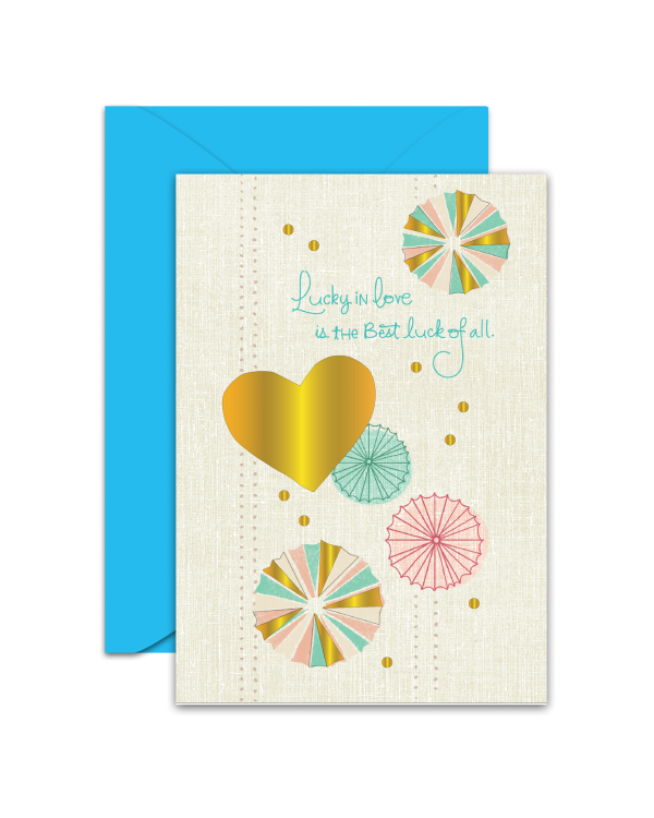 Greeting Card - GC2916-HAL012 - Lucky in Love is the Best luck of all.