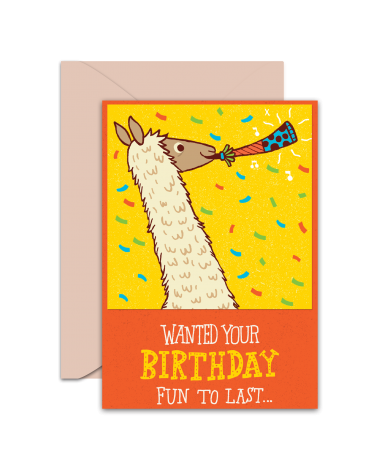 Greeting Card - GC2916-HAL014 - Wanted Your Birthday Fun To Last...