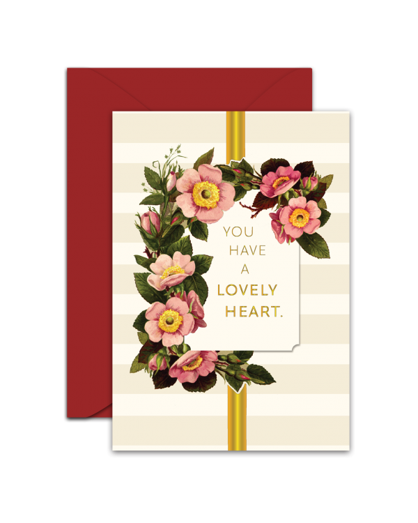 Greeting Card - GC2916-HAL018 - YOU HAVE A LOVELY HEART.