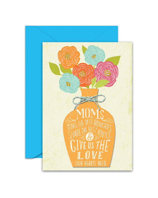 Greeting Card - GC2916-HAL022 - MOM'S. I feel so lucky to have you as my mom. HAPPY BIRTHDAY