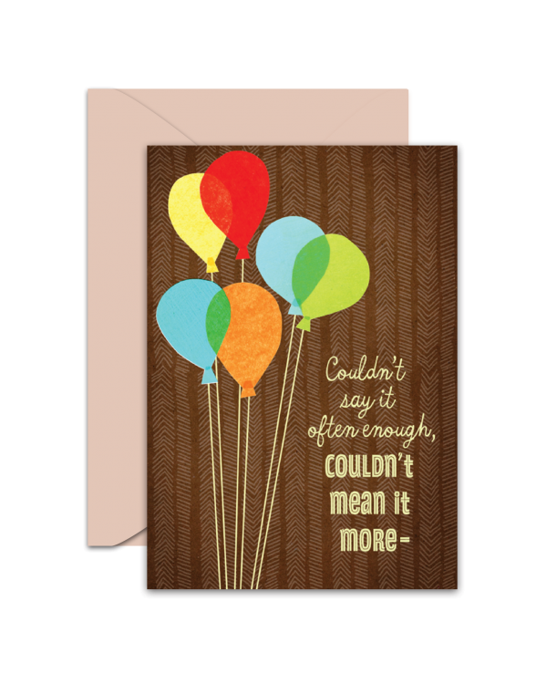 Greeting Card - GC2916-HAL023 - You're a Wonderful Son, and you're loved very much! Happy Birthday
