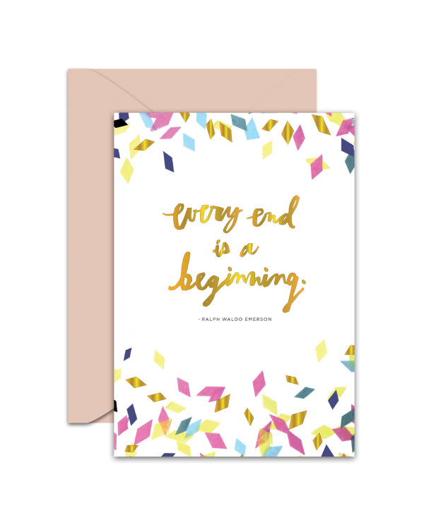 Greeting Card - GC2916-HAL027 - Every End is Beginning