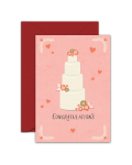 Greeting Card - GC2916-HAL032 - CONGRATULATIONS. Wishing you a lifetime of dreams come true.