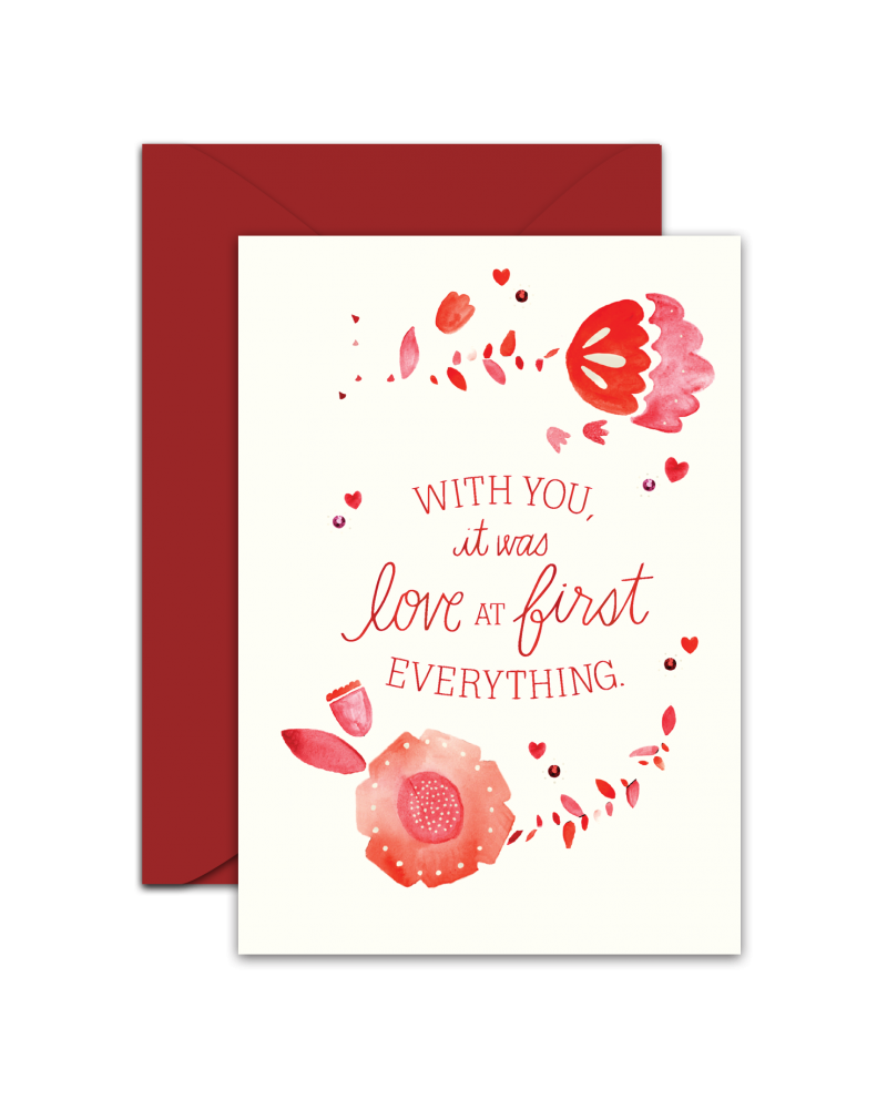 Love Greeting Card Photo Fire Valentine All About Love