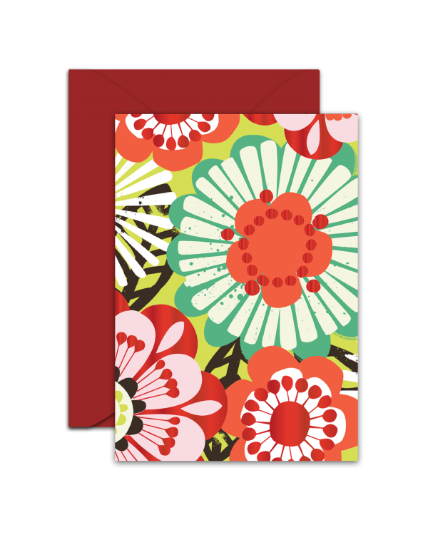 Greeting Card - GC2916-HAL040 - Flowers - Blank Card