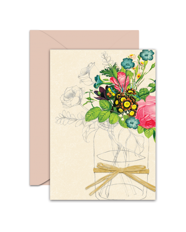 Greeting Card - GC2916-HAL041 - Flowers - Blank Card