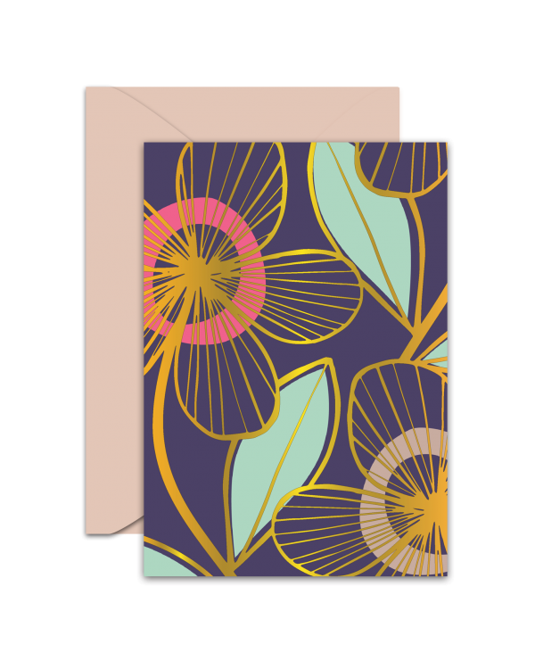 Greeting Card - GC2916-HAL044 - Flowers - Blank Card