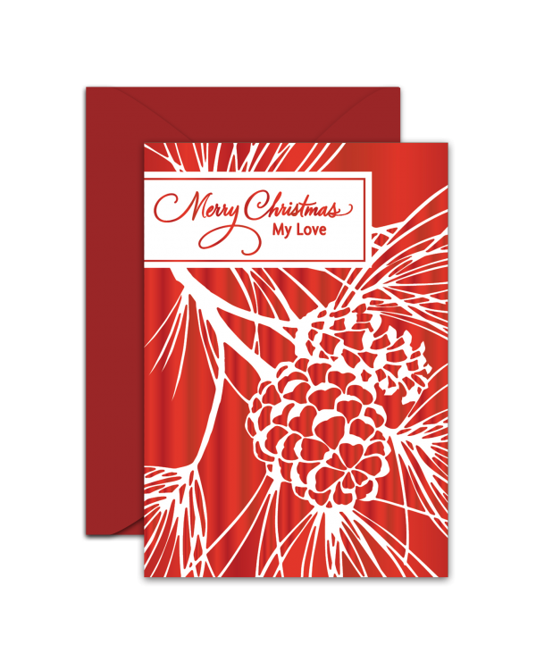 Greeting Card - GC2916-HAL046 - Merry Christmas My Love