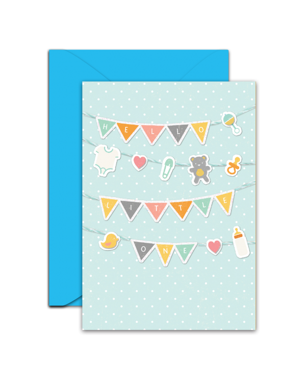 Greeting Card - GC2916-HAL056 - HELLO LITTLE ONE