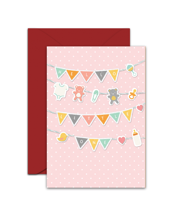Greeting Card - GC2916-HAL057 - HELLO LITTLE ONE