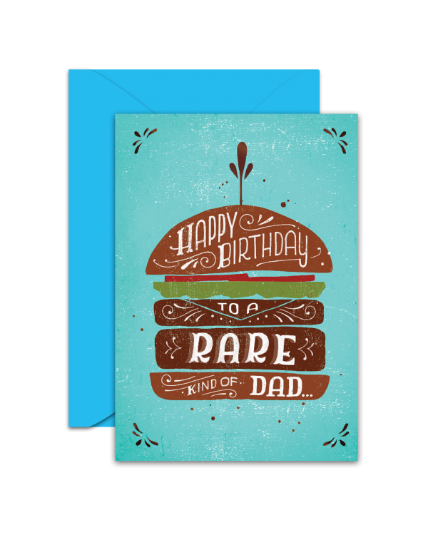Greeting Card - GC2916-HAL067 - HAPPY BIRTHDAY TO A RARE KIND OF DAD