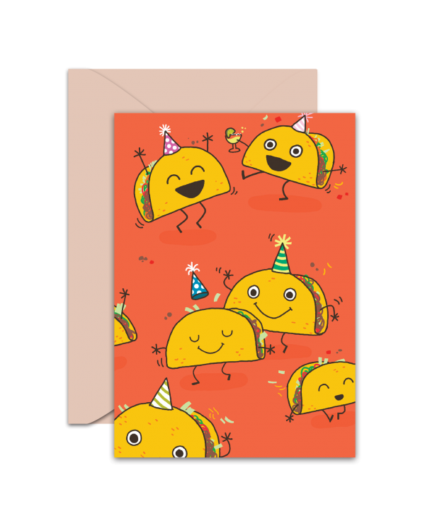 Greeting Card - GC2916-HAL070 - HAVE THE KIND OF BIRTHDAY EVERYONE WILL TACO 'BOUT!