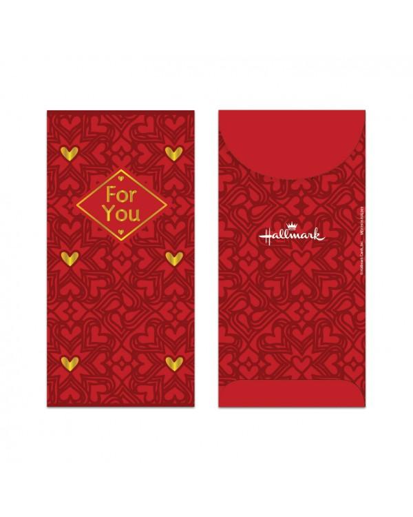 Money Envelope Large - MEV0918-HAL003 - Heart Pattern - For You