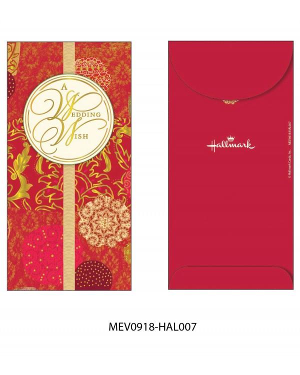 Money Envelope Large - MEV0918-HAL007 - Flowers - A Wedding Wish
