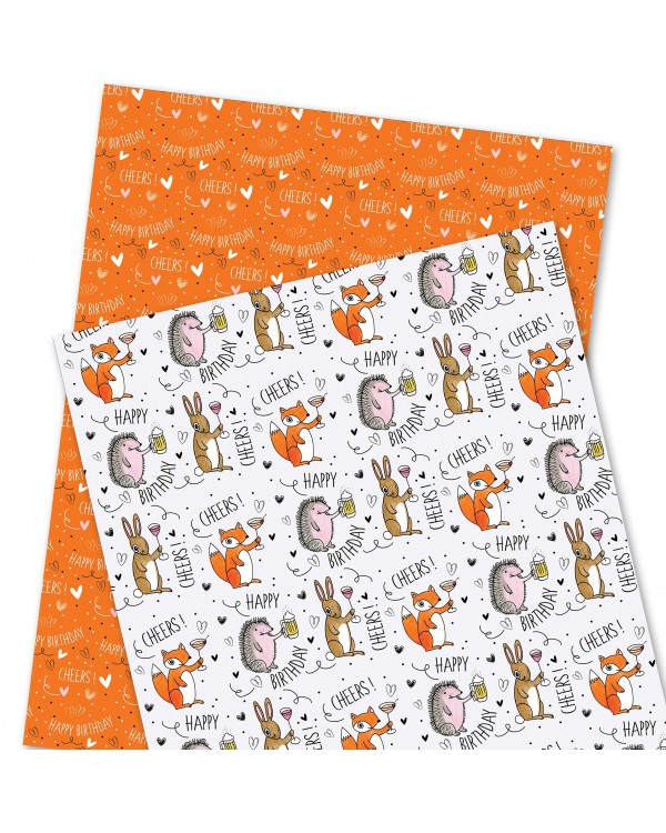 Wrapping Paper - WP4964-HAL001 - Happy Birthday. CHEERS!