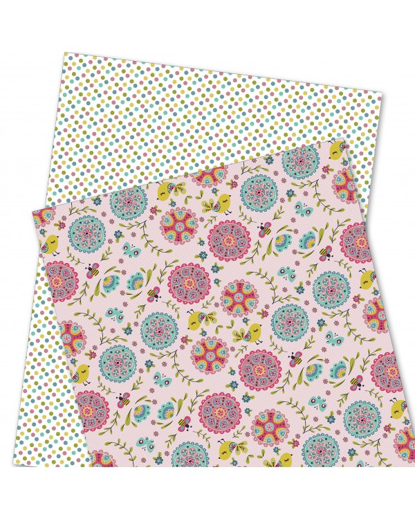 Wrapping Paper - WP4964-HAL004 - Bird, Butterfly & Flowers