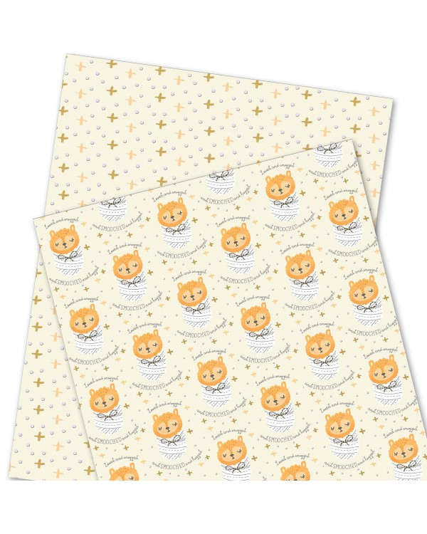 Wrapping Paper - WP4964-HAL005 - Love and snugged and SMOOCHED and hugged